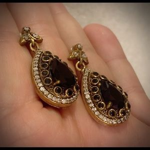 Vintage Midnight Sapphire Sterling Silver Earrings